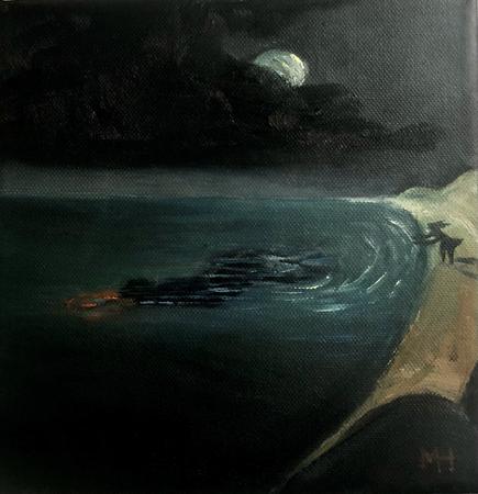 Le Retour Futile 4, 2021, oil on canvas, 20 x 20 cm