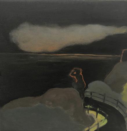 Le Retour Futile 3, 2021, oil on canvas, 20 x 20 cm