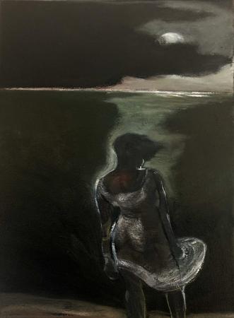 Le Retour Futile 5, 2021, oil on canvas, 24 x 18 cm