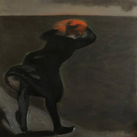 Le Retour Futile 6, 2021, oil on canvas, 20 x 20 cm