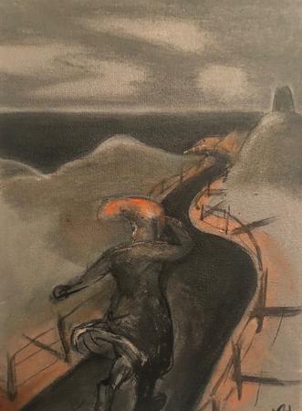 Le Retour Futile 7, 2021, oil on canvas, 24 x 18 cm