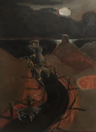 Le Retour Futile 8, 2021, oil on canvas, 24 x 18 cm