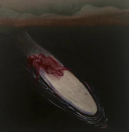 Le Retour Futile 9, 2021, oil on canvas, 20 x 20 cm
