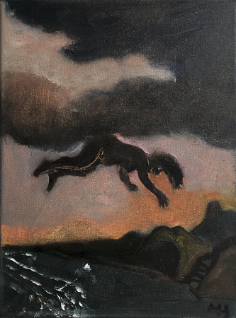 Night visitor, 2021, oil on canvas, 24 x 18 cm