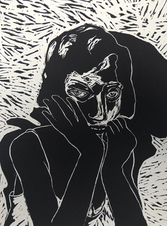 Preparations, 2020, linocut, 40 x 30 cm, ed. 20