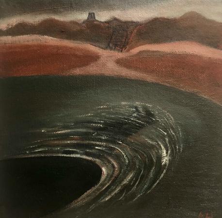 Whirlpool, 2021, oil on canvas, 20 x 20 cm
